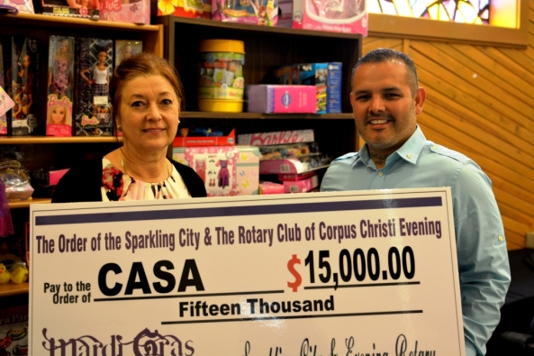 Rotary Gives CASA Check 2016 003
