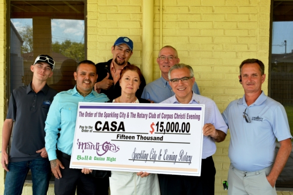 Rotary Gives CASA Check 2016 009